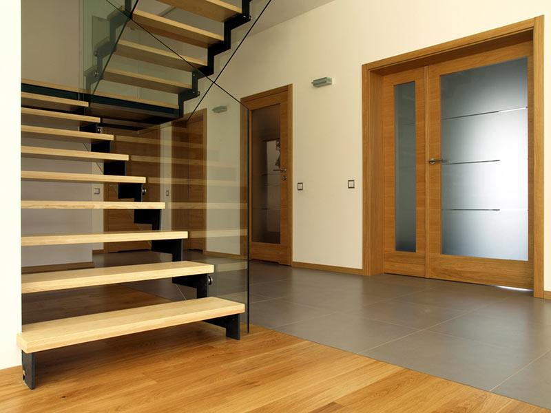 Treppenarten: Gerade Treppen