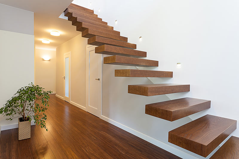 Treppenarten: Freitragende Treppen