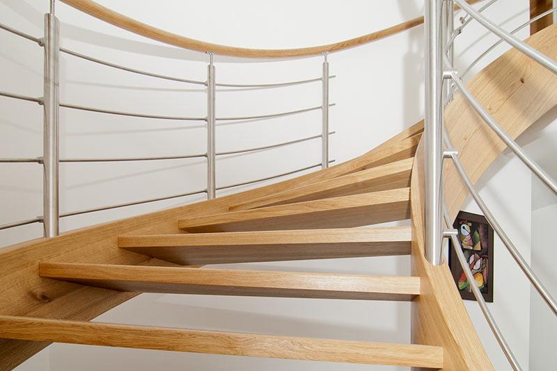 Treppenarten: Spindeltreppen